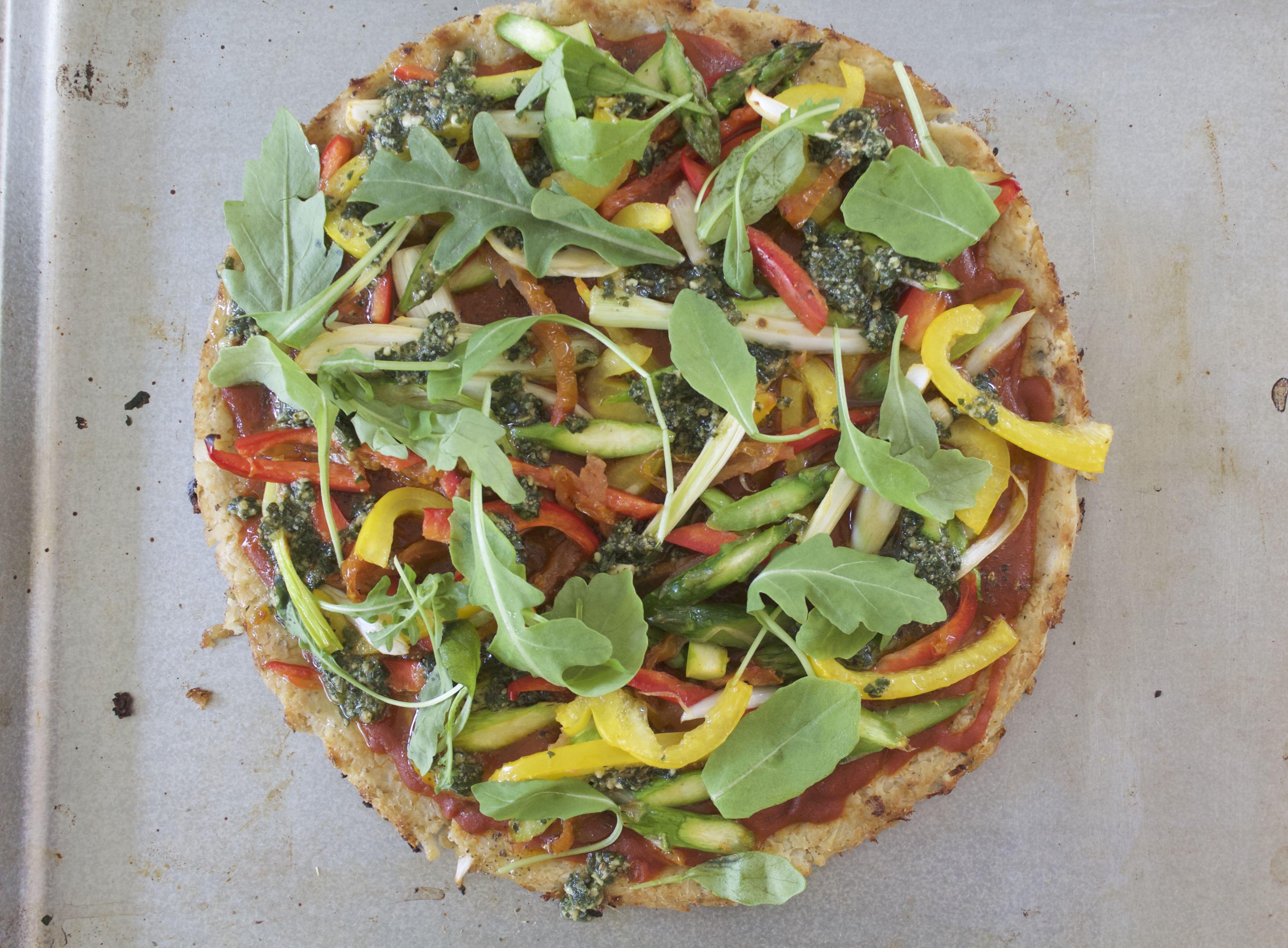Receta Pizza de Coliflor
