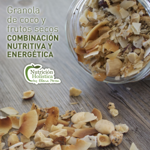 GRANOLA DE COCO Y FRUTOS SECOS